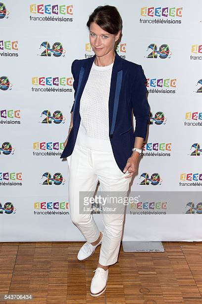 Carole Gaessler attends the 'Rendezvous du 29' Photocall at France Television on June 29 2016 in Paris France