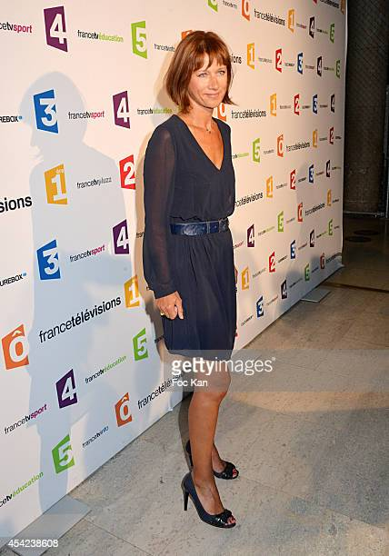 Carole Gaessler attends the 'Rentree de France Televisions' at Palais De Tokyo on August 26 2014 in Paris France