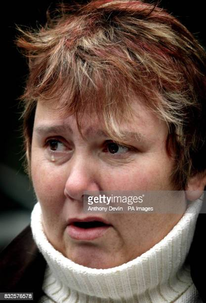 Carole Hodges whose father collected money for the British Legion cries outside Gloucester Crown Court after former vicechairman Edward Portlock was...