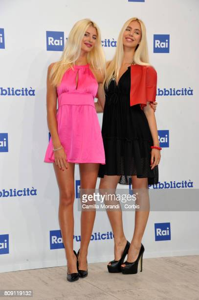 Carole Jay and Jasmine Gigli attend the Rai Show Schedule Presentation In Rome on July 4 2017 in Rome Italy