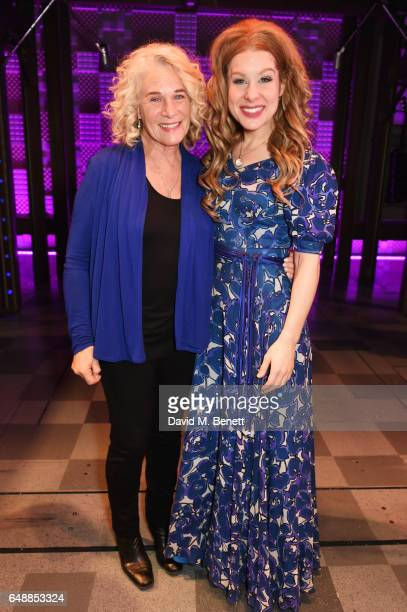 Carole King and Cassidy Janson pose backstage after Carole King surprised the West End cast of 'Beautiful The Carole King Musical' at the Aldwych...
