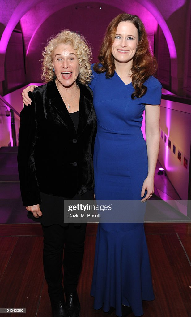 Carole King and Katie Brayben attend an after party following the press night performance of 'Beautiful: The Carole King Musical', playing at the Aldwych Theatre, at the Somerset House on February 24, 2015 in London, England.