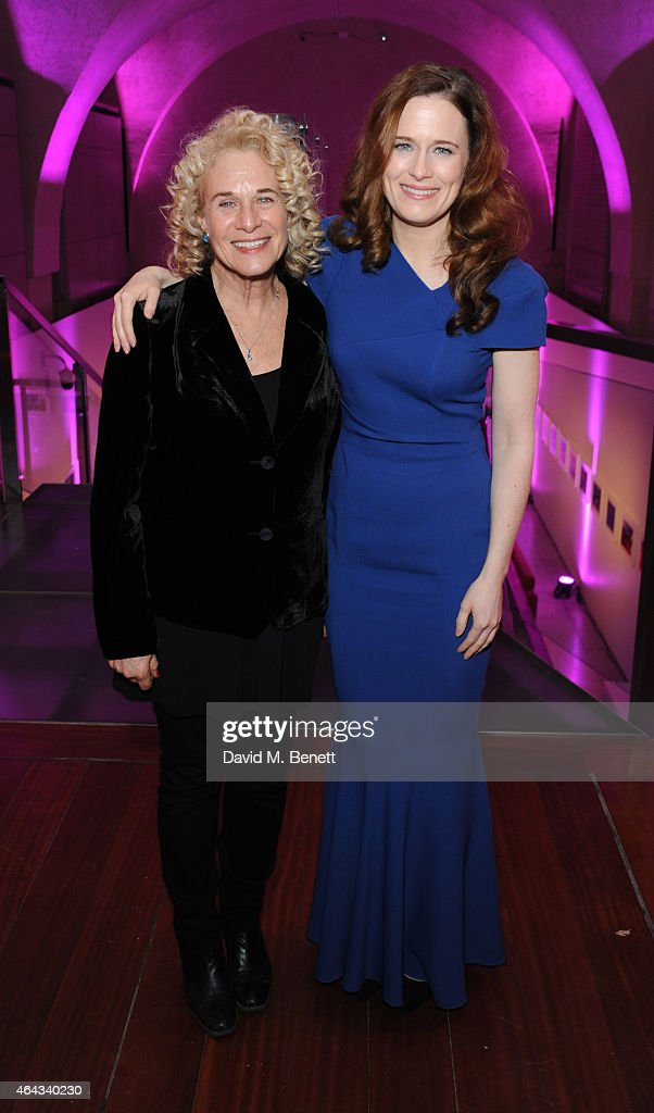 Carole King and Katie Brayben attends an after party following the press night performance of 'Beautiful: The Carole King Musical', playing at the Aldwych Theatre, at the Somerset House on February 24, 2015 in London, England.