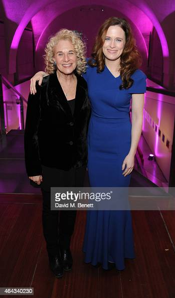 Carole King and Katie Brayben attends an after party following the press night performance of 'Beautiful The Carole King Musical' playing at the...