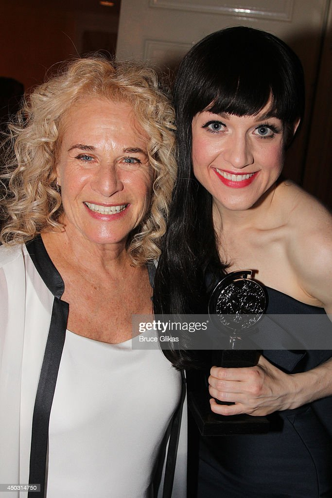 Carole King and Lena Hall pose in the press room during the American Theatre Wing's 68th Annual Tony Awards at Radio City Music Hall on June 8, 2014 in New York City.
