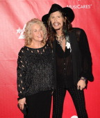 Carole King and Steven Tyler attend the 2014 MusiCares Person of the Year honoring Carole King at Los Angeles Convention Center on January 24 2014 in...