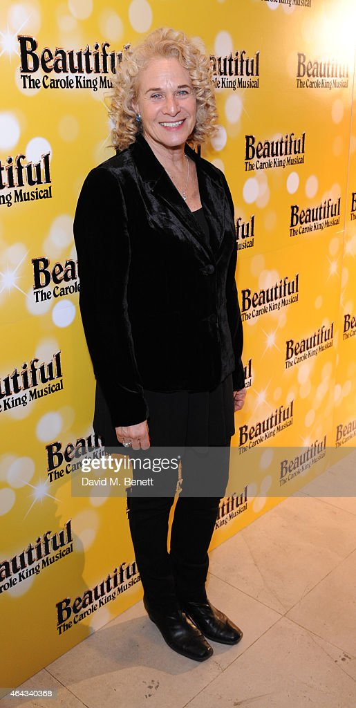 Carole King attends an after party following the press night performance of 'Beautiful: The Carole King Musical', playing at the Aldwych Theatre, at the Somerset House on February 24, 2015 in London, England.