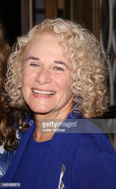 Carole King celebrate the 1000th performance of 'Beautiful The Carole King Musical' at Stephen Sondheim Theatre on June 15 2016 in New York City