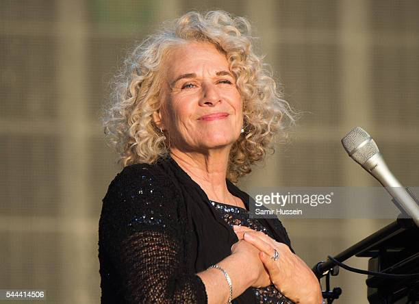 Carole King performs her album Tapestry as part of British Summer Time Festival at Hyde Park on July 3 2016 in London England