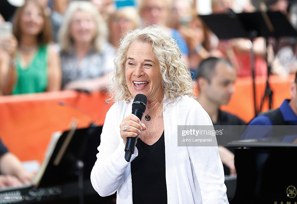 Carole King performs on NBC's 'Today' at Rockefeller Plaza on August 25, 2015 in New York City.