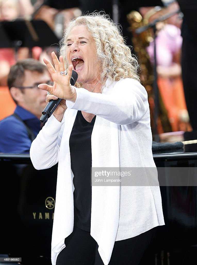 Carole King performs on NBC's 'Today' at Rockefeller Plaza on August 25 2015 in New York City