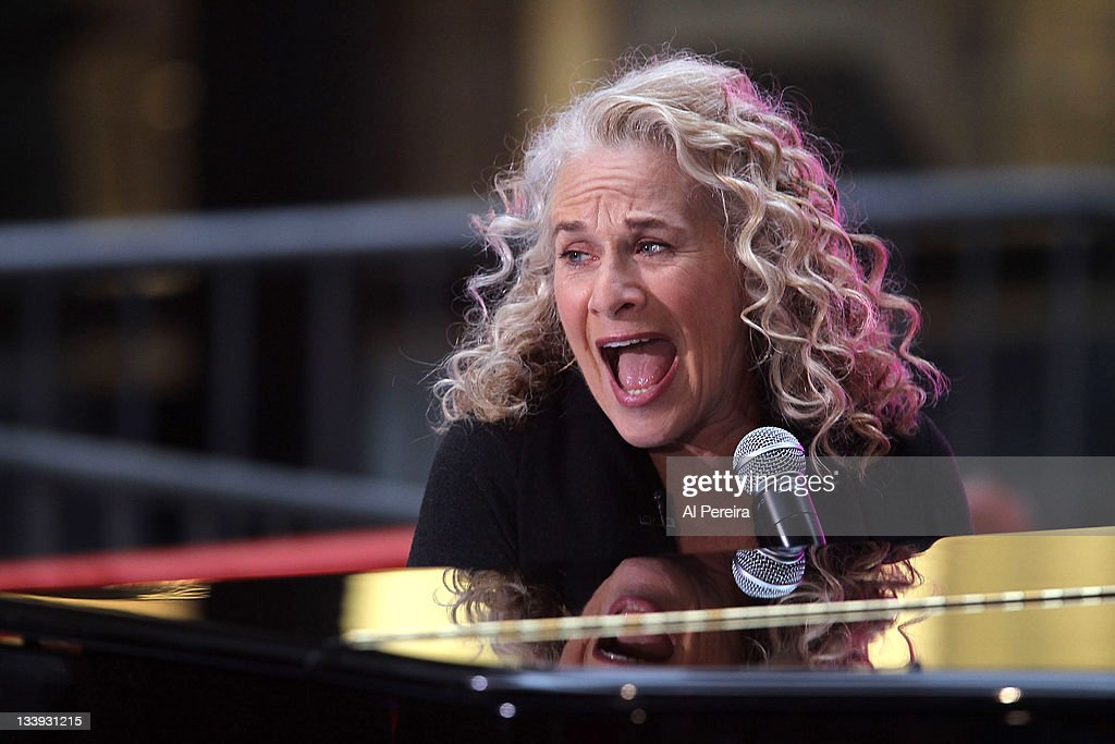 Carole King performs on NBC's 'Today' Show in the TODAY Plaza on November 22 2011 in New York City