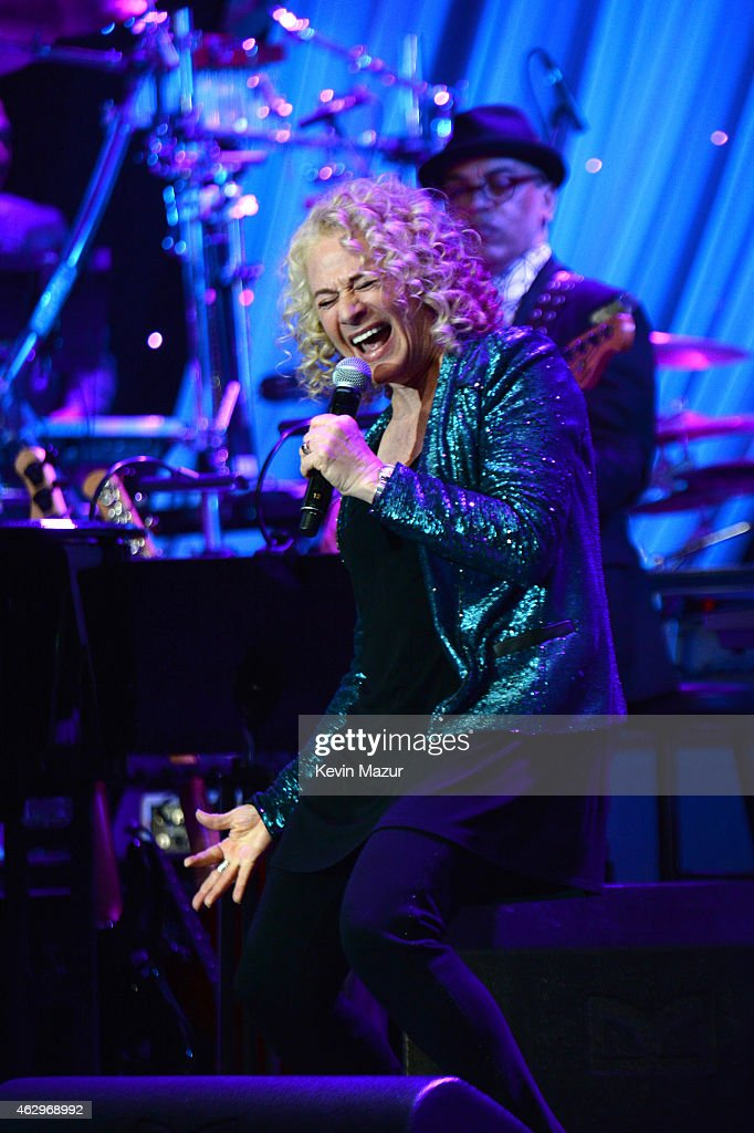 Carole King performs onstage at PreGRAMMY Gala And Salute To Industry Icons Honoring Martin Bandier at The Beverly Hilton on February 7 2015 in Los...