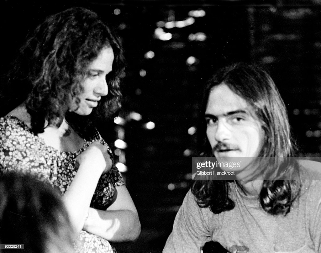 Carole King performs with James Taylor at BBC TV studios in London in 1970