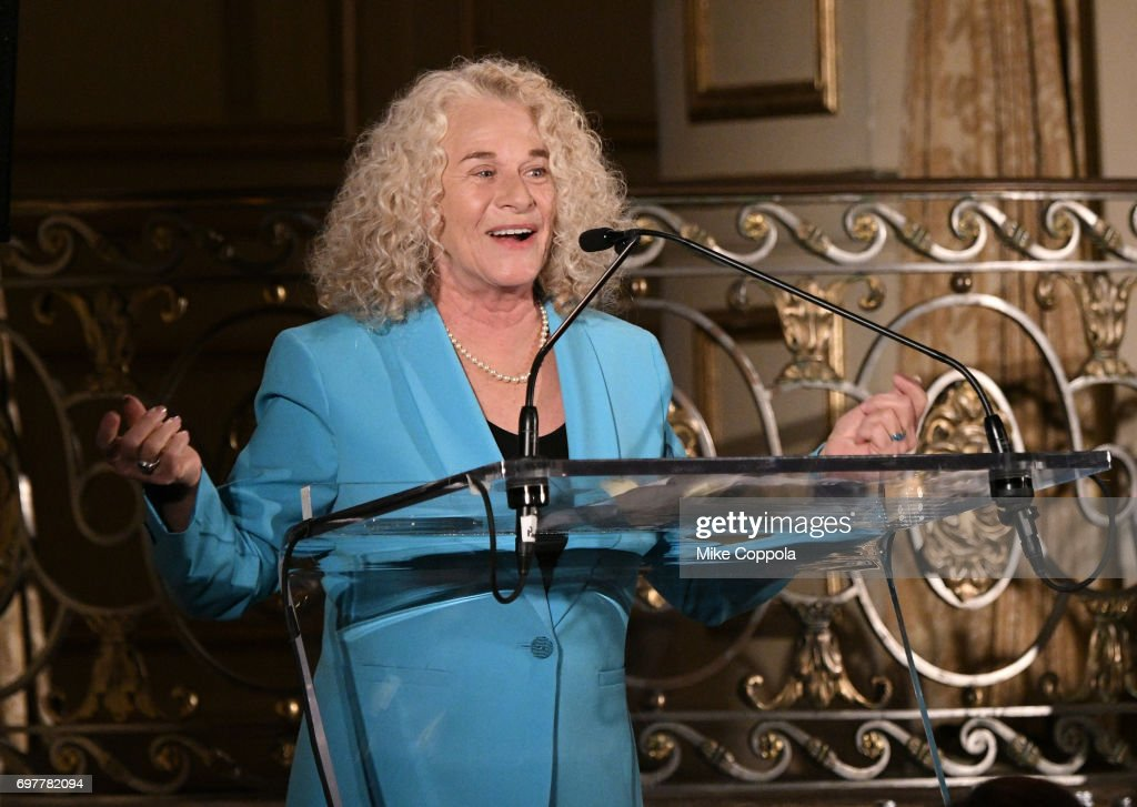 Carole King presents an award at The 7th Annual Elly Awards at The Plaza Hotel on June 19, 2017 in New York City.