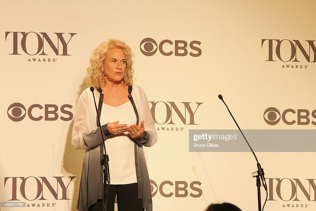 Carole King speaks in the press room during the American Theatre Wing's 68th Annual Tony Awards at Radio City Music Hall on June 8, 2014 in New York City.