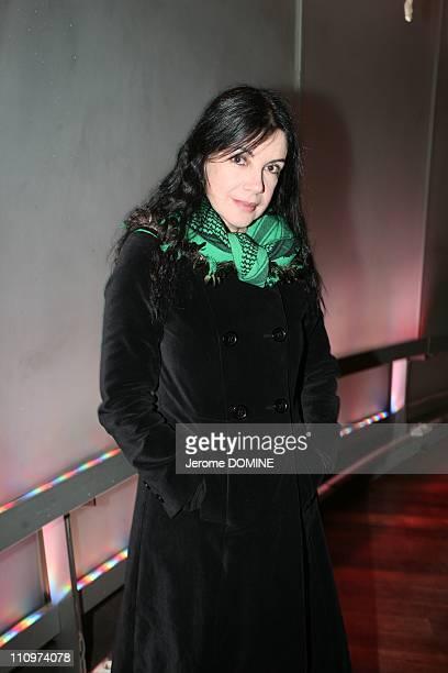 Carole Laure actrice et presidente d'honneur de Cinema du Quebec a paris in Paris France on November 14th 2007