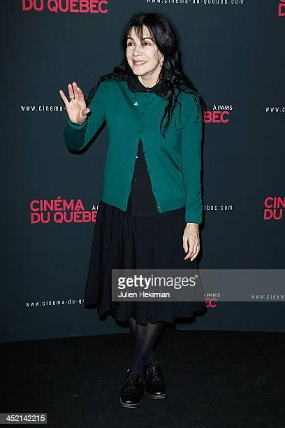 Carole Laure attends 'Cinema Du Quebec' Opening Party In Paris at Forum Des Images on November 26 2013 in Paris France
