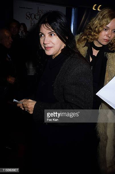 Carole Laure during 'Two Angry Sisters' Paris Premiere at Cinema Publicis Champs Elysees in Paris France
