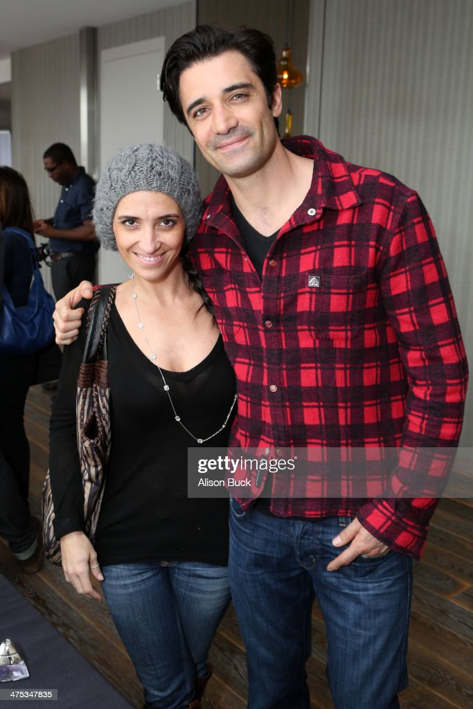 Carole Marini (L) and actor Gilles Marini attend Kari Feinstein's Pre-Academy Awards Style Lounge at the Andaz West Hollywood on February 27, 2014 in Los Angeles, California.