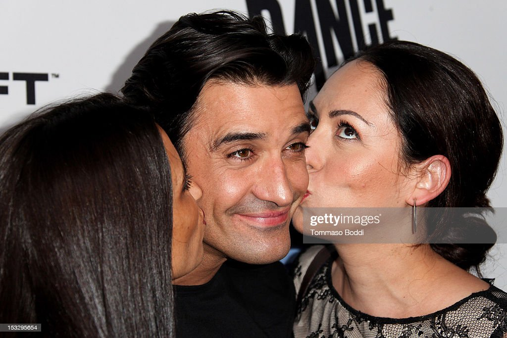Carole Marini, <a gi-track='captionPersonalityLinkClicked' href=/galleries/search?phrase=Gilles+Marini&family=editorial&specificpeople=5360860 ng-click='$event.stopPropagation()'>Gilles Marini</a> and Jenny Leefer attend the Ubisoft presents the launch of 'Just Dance 4' held at Lexington Social House on October 2, 2012 in Hollywood, California.