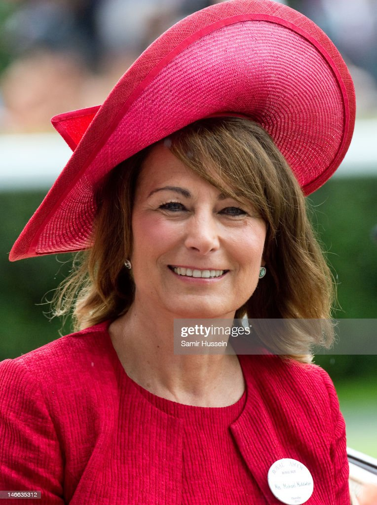 Carole Middleton arrives by carriage on Ladies Day of Royal Ascot 2012 at Ascot Racecourse on June 21, 2012 in Ascot, United Kingdom.