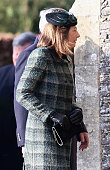 Carole Middleton arrives for Christmas Day Service at Sandringham Church on December 25 2014 in King's Lynn England