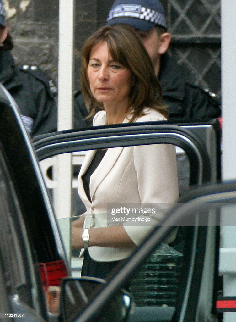 Carole Middleton Attends A Rehearsal For Prince William And Catherine S Wedding At Westminster Abbey On