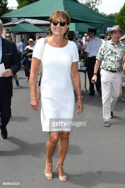 Carole Middleton attends day four of the Wimbledon Tennis Championships at the All England Lawn Tennis and Croquet Club on July 6 2017 in London...