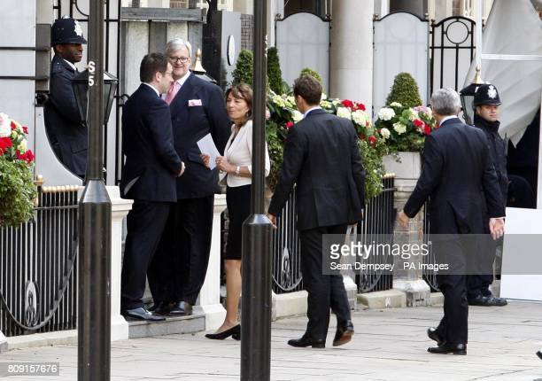 Carole Middleton mother of Kate Middleton arrives at The Goring hotel London ahead of the royal weddingPicture date Thursday April 28 2011 The...