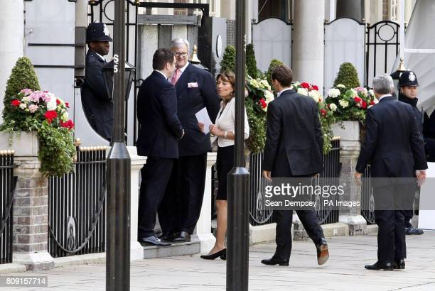 Carole Middleton mother of Kate Middleton arrives at The Goring hotel London ahead of the royal wedding