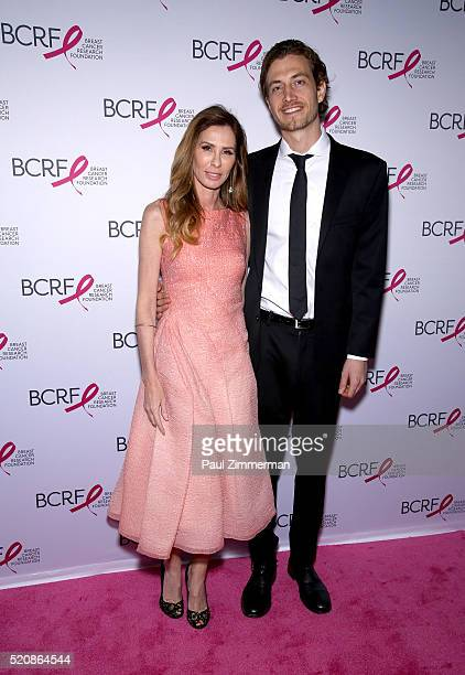 Carole Radziwill and Adam Kenworthy attend the 2016 Breast Cancer Research Foundation Hot Pink Party at The Waldorf=Astoria on April 12 2016 in New...