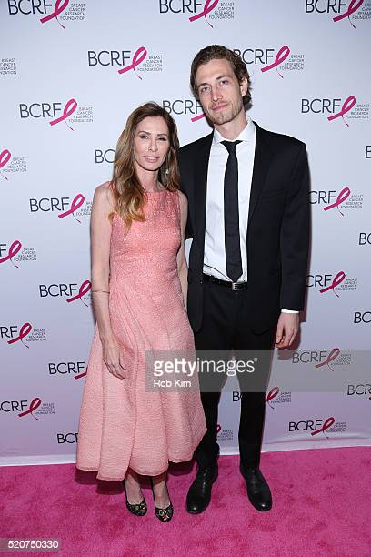 Carole Radziwill and guest attend 2016 Breast Cancer Research Foundation Hot Pink Party at The Waldorf=Astoria on April 12 2016 in New York City