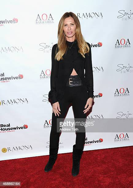 Carole Radziwill attends the 'Real Housewives of New York City' season 7 series viewing party at AOA Bar Grill on April 7 2015 in New York City