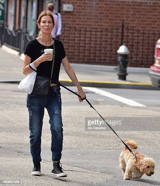 Carole Radziwill is seen in Soho on October 1 2015 in New York City