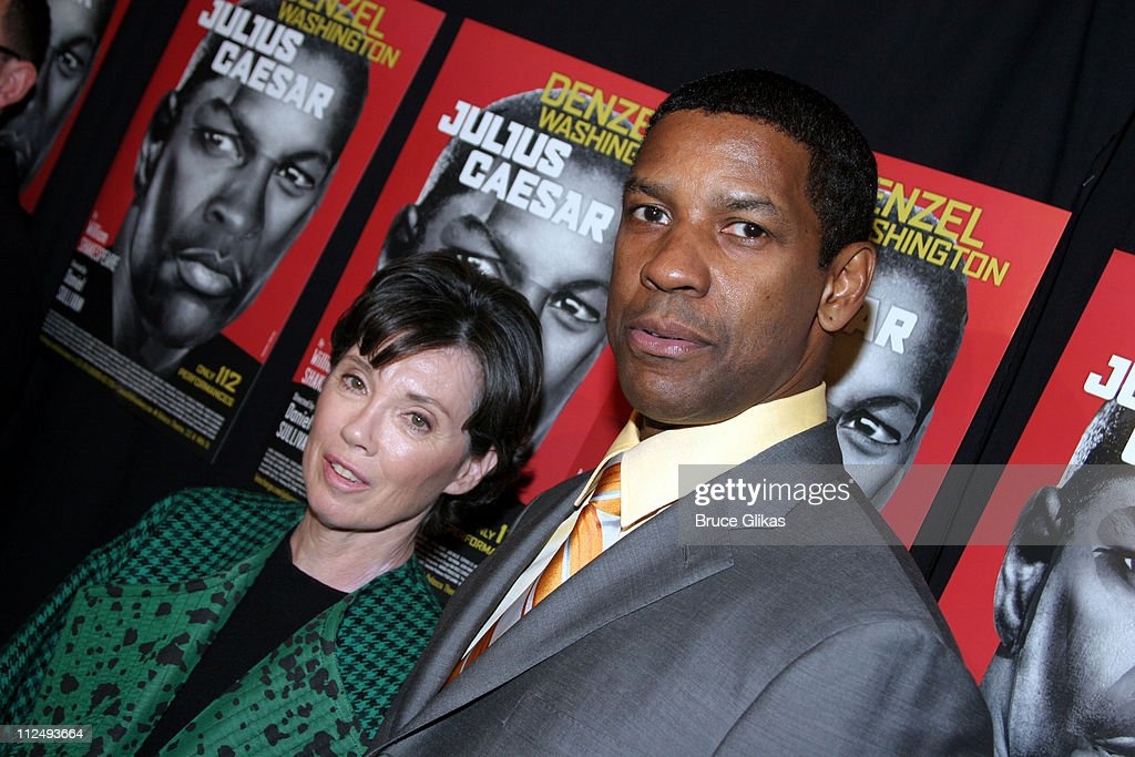 Carole Shorenstein Hays, producer and <a gi-track='captionPersonalityLinkClicked' href=/galleries/search?phrase=Denzel+Washington&family=editorial&specificpeople=171332 ng-click='$event.stopPropagation()'>Denzel Washington</a>