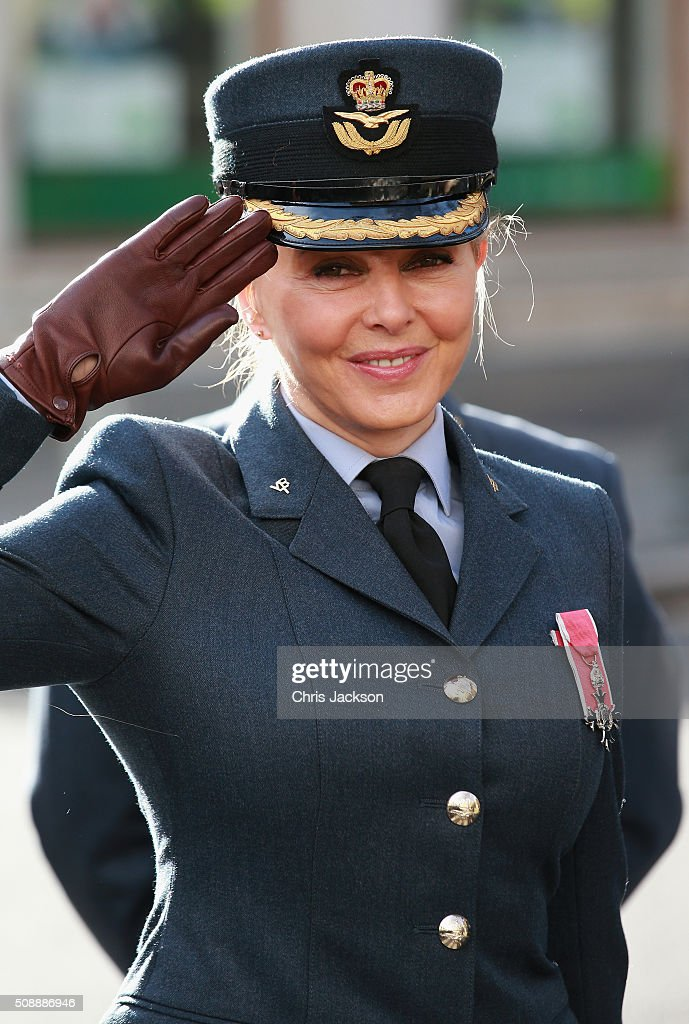 Carole Vorderman attends the 75th Anniversary of the RAF Air Cadets at St Clement Danes Church on February 7, 2016 in London, England.