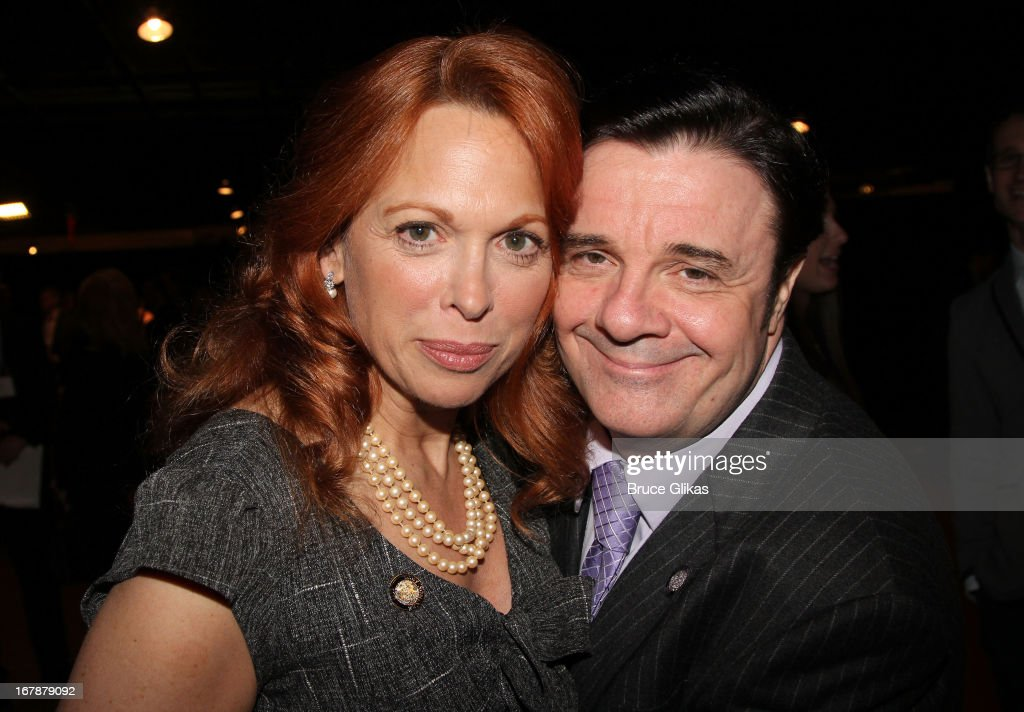 Carolee Carmello and Nathan Lane attend the 2013 Tony Awards: The Meet The Nominees Press Junket at the Millenium Hilton on May 1, 2013 in New York City.