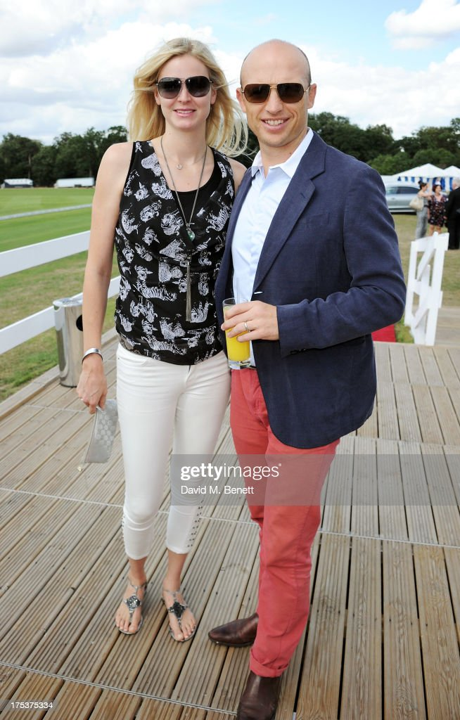 Carolin Hauskeller and Matt Dawson attend day 1 of the Audi Polo Challenge at Coworth Park Polo Club on August 3 2013 in Ascot England