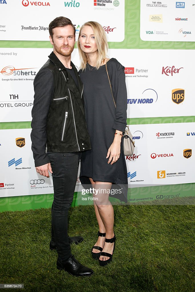 Carolin Niemczyk and Daniel Grunenberg of the band Glasperlenspiel attend the Green Tec Award at ICM Munich on May 29, 2016 in Munich, Germany.