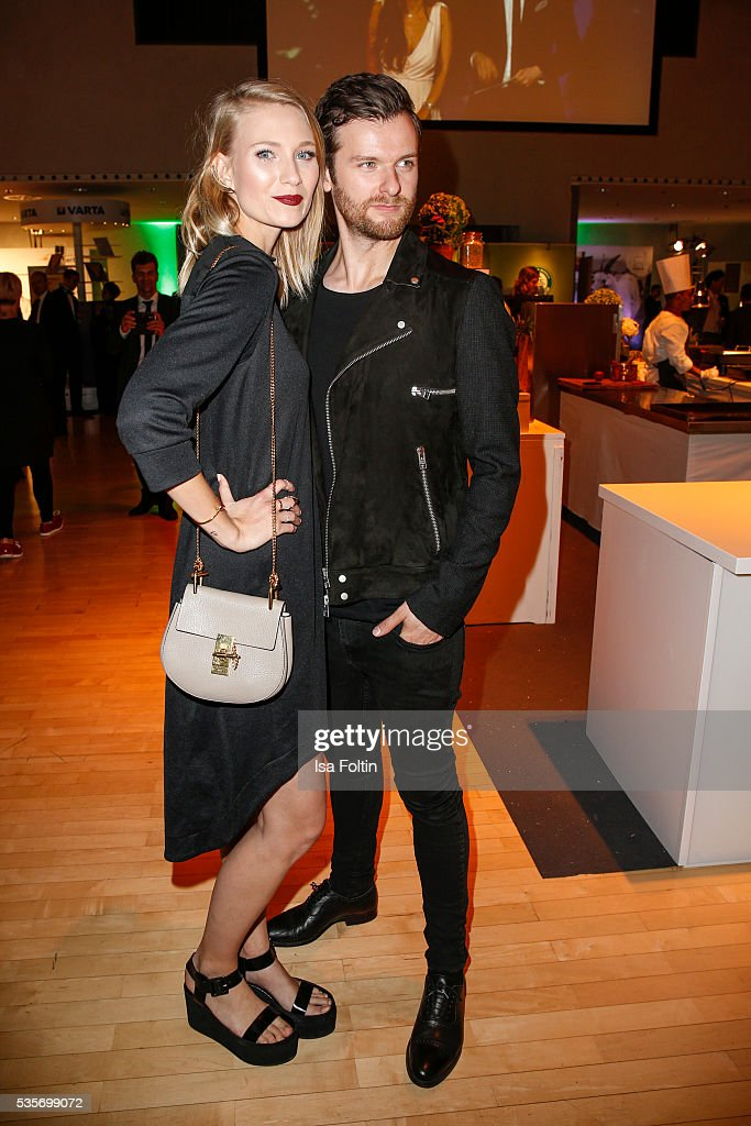 Carolin Niemczyk and Daniel Grunenberg, singer of the band 'Glasperlenspiel' during the Green Tec Award After Show Party at ICM Munich on May 29, 2016 in Munich, Germany.