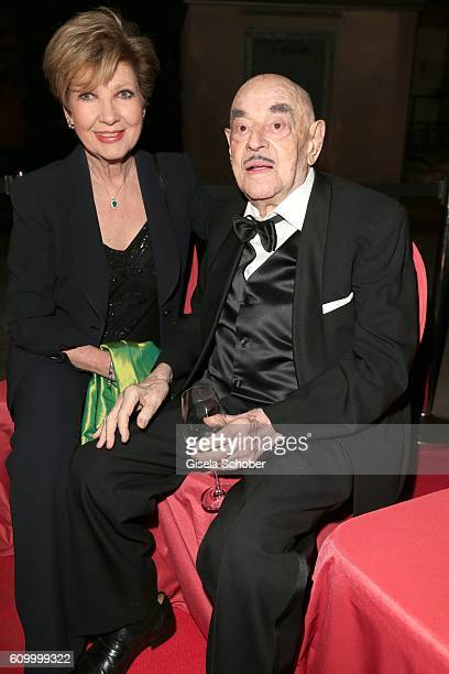 Carolin Reiber and Arthur Brauner during the 70th anniversary of Arthur Brauner's CCC Film Studios on September 23 2016 in Berlin Germany