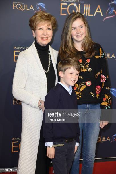 Carolin Reiber and her grandchildren Laurentius and Magdalena during the world premiere of the horse show 'EQUILA' at Apassionata Showpalast Muenchen...