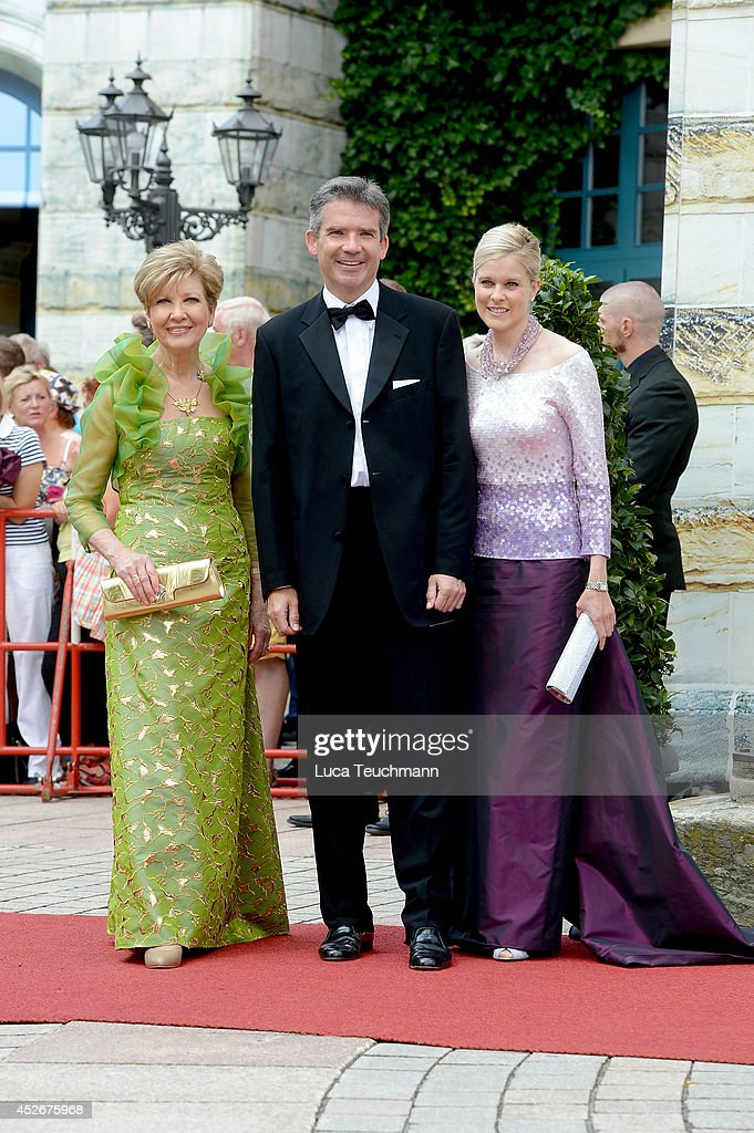 Carolin Reiber and Marcus Maier attend the Bayreuth Festival opening on July 25 2014 in Bayreuth Germany