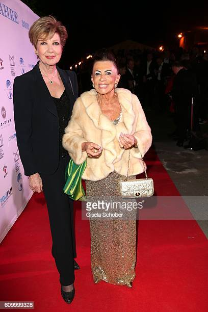 Carolin Reiber and Maria Brauner during the 70th anniversary of Arthur Brauner's CCC Film Studios on September 23 2016 in Berlin Germany