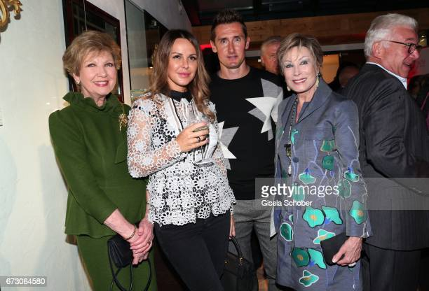 Carolin Reiber Sylwia Klose and her husband Miroslav Klose and Antje Katrin Kuehnemann during the piano night hosted by Wempe and Glashuette Original...