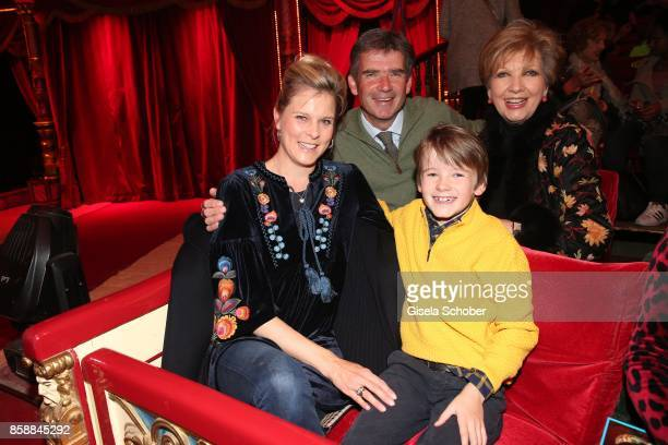 Carolin Reiber with her son Dr Marcus Maier and his wife Dr Cathrin Maier and grandson Laurentius Maier during the premiere of the Circus Roncalli...