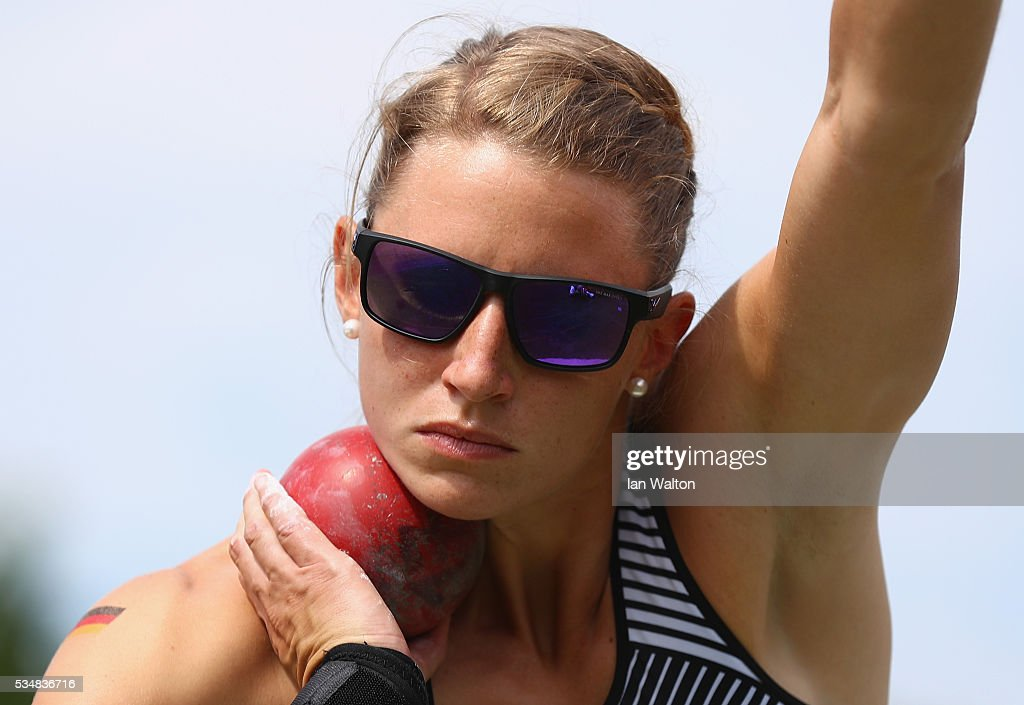 Carolin Schafer of Germany in action in the Women's Heptathlon shot put during the Hypomeeting Gotzis 2016 at the Mosle Stadiom on May 28, 2016 in Gotzis, Austria.