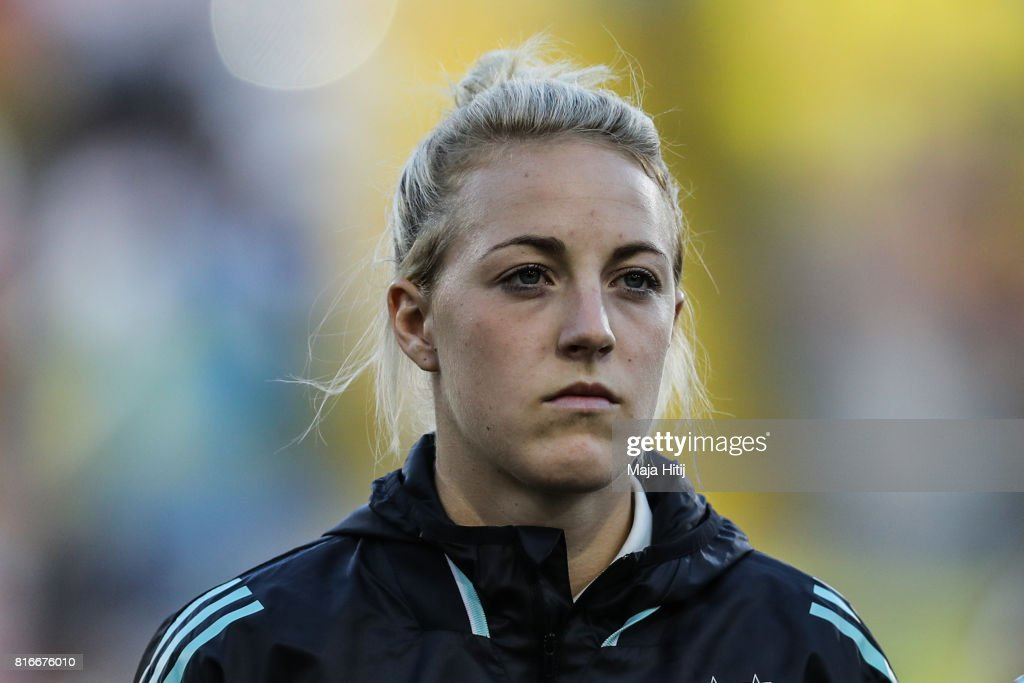 Carolin Simon of Germany stands prior the Group B match between Germany and Sweden during the UEFA Women's Euro 2017 at Rat Verlegh Stadion on July 17, 2017 in Breda, Netherlands.