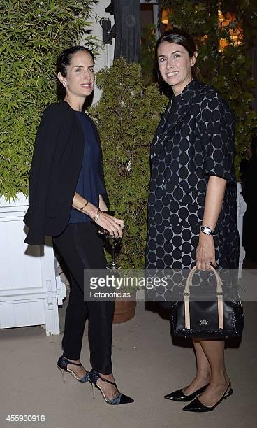 Carolina Adriana Herrera and Ana Garcia Sineriz attend the Zacapa Room opening party at the Casino de Madrid on September 22 2014 in Madrid Spain